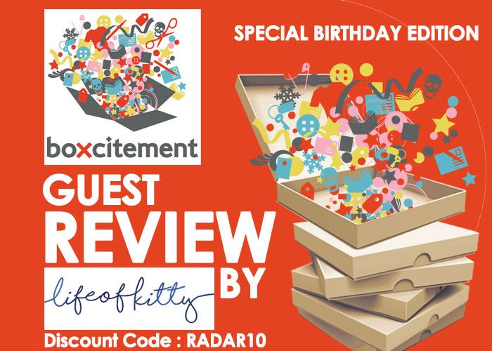Boxcitement's Birthday – October Box
